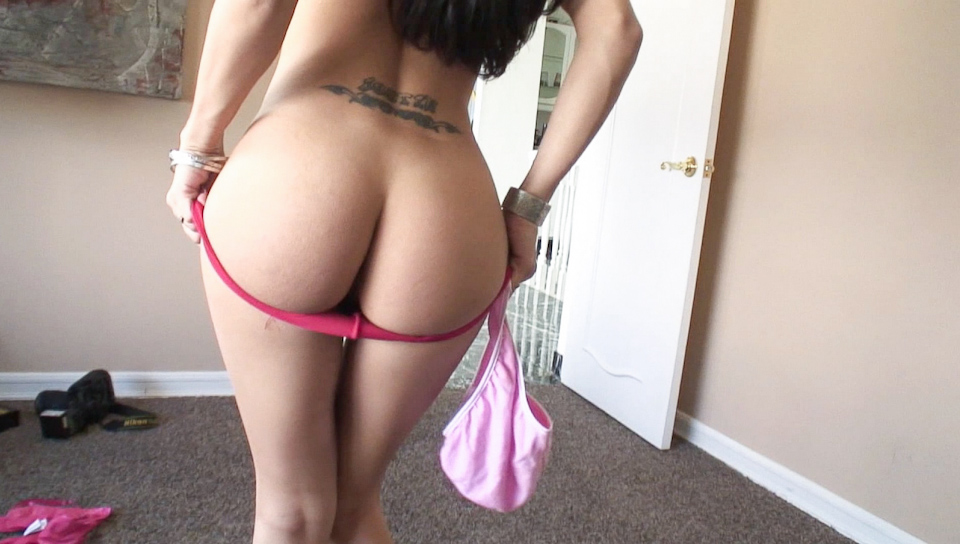 She plays with her dirty panties and gets naughty with dick!